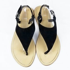 J. Crew | Astria Black Suede Sandals 26252